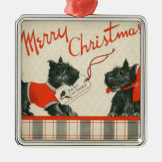 Merry Christmas Scottish Terrier Ornament