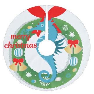merry christmas seahorse tree skirt