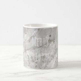 Merry Christmas Shiny Crystal White Coffee Mug