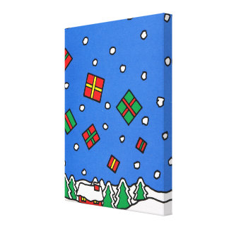 Merry Christmas, Showered with gifts Stretched Canvas Prints