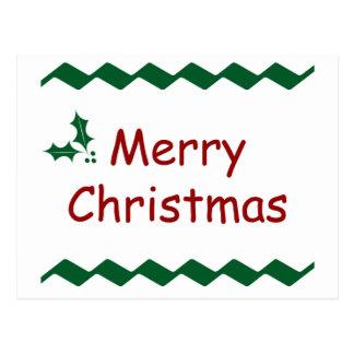 Merry Christmas Simple Festive Design Postcard