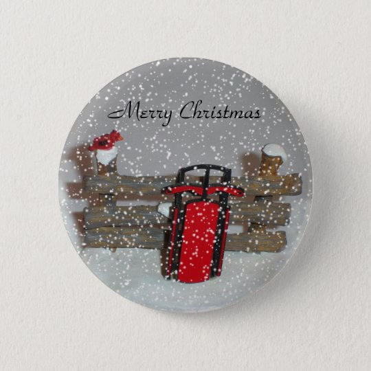 Merry Christmas Sled Button