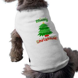 Merry Christmas Sleeveless Dog Shirt