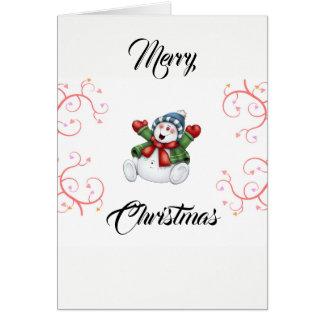 Merry Christmas Snow Man Card