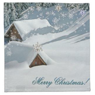 Merry Christmas snow Napkin