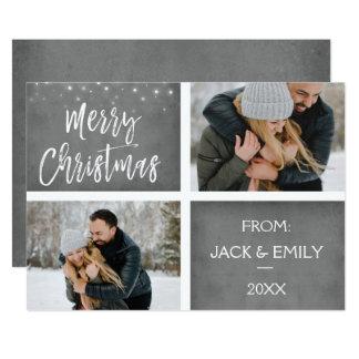 Merry Christmas Snow or Snowflake Photo Card