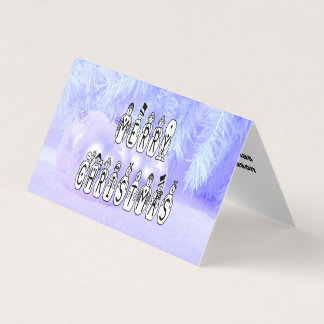 Merry Christmas Snow People Font, Blue Tint Snow Card