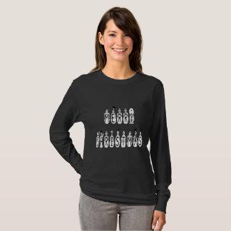 Merry Christmas Snow People Font Women's Lg Sleeve T-Shirt