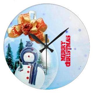 Merry Christmas Snow_RELOJ Clock