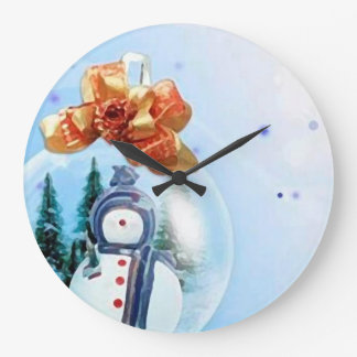 Merry Christmas Snow_reloj Wall Clock