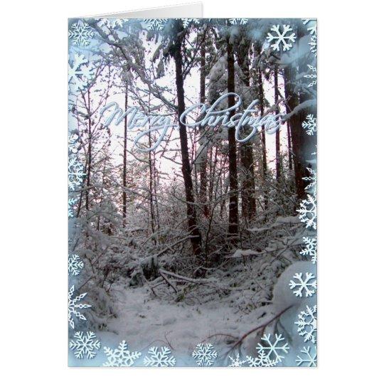 MERRY CHRISTMAS SNOW SCENE by SHARON SHARPE Card