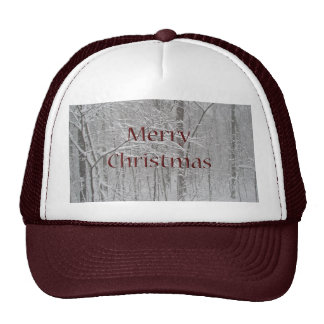 Merry Christmas Snow Storm Coordinating Items Cap