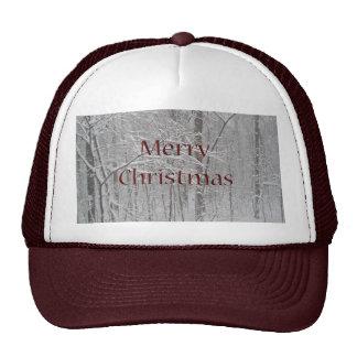 Merry Christmas Snow Storm Coordinating Items Trucker Hats