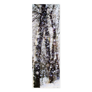 Merry Christmas Snow Trees Bookmark Card Pack Of Skinny Business Cards