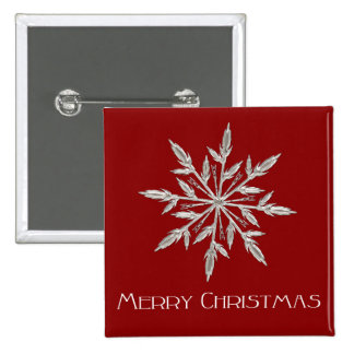 Merry Christmas snowflake illustration 15 Cm Square Badge