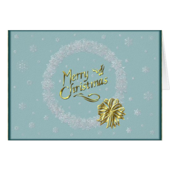 Merry Christmas Snowflake Wreath Card