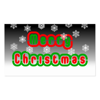 Merry Christmas Snowflakes Double-Sided Standard Business Cards (Pack Of 100)