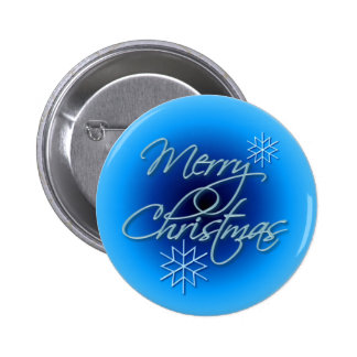 MERRY CHRISTMAS & SNOWFLAKES by SHARON SHARPE 6 Cm Round Badge