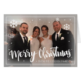 Merry Christmas Snowflakes Card