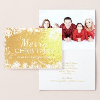 Merry Christmas Snowflakes Foil Card