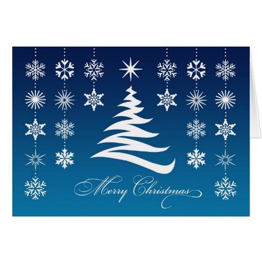 Merry Christmas Snowflakes Folded Card