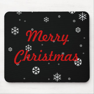 Merry Christmas Snowflakes Mouse Mat