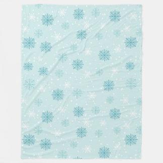 Merry Christmas snowflakes pattern Fleece Blanket