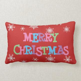 Merry Christmas Snowflakes  Pillow