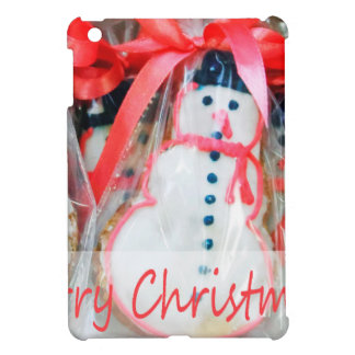Merry Christmas Snowman Biscuit Cover For The iPad Mini