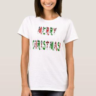 Merry Christmas Snowman Font Light T-Shirt