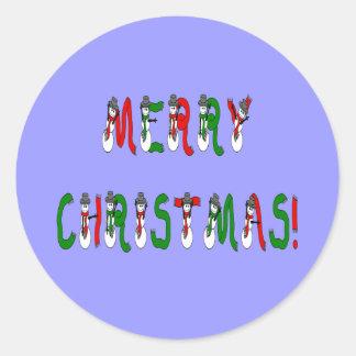 Merry Christmas Snowman Font  Sticker