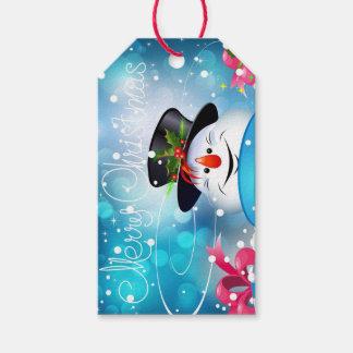 Merry Christmas Snowman Gift Tag