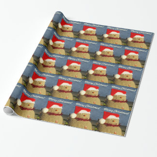 Merry Christmas Snowman Sandman Wrapping Paper