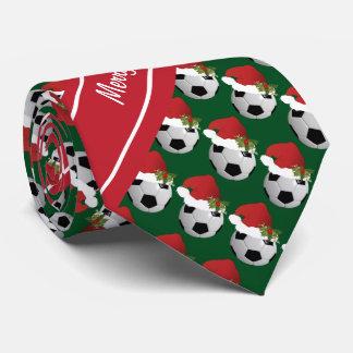 Merry Christmas Soccer Ball Tie