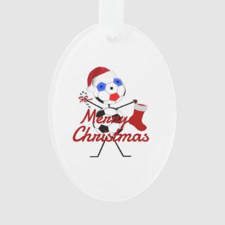 Merry Christmas Soccer Cartoon Ornament