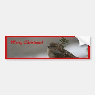 Merry Christmas, Sparrow Bumper Sticker