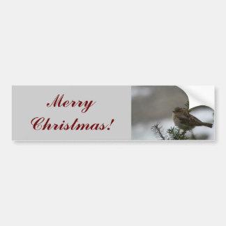 Merry Christmas Sparrow! Car Bumper Sticker