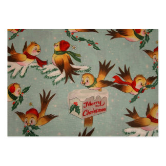 Merry Christmas Sparrows Pack Of Chubby Business Cards
