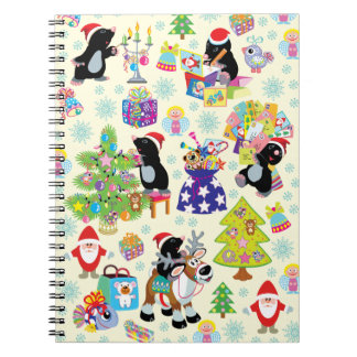 Merry Christmas Spiral Note Books