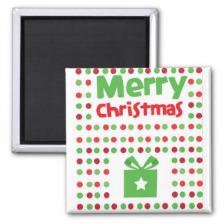 Merry Christmas spotty Square Magnet