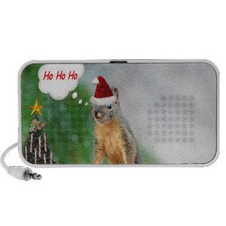 Merry Christmas Squirrel Saying Ho Ho Ho Mini Speaker