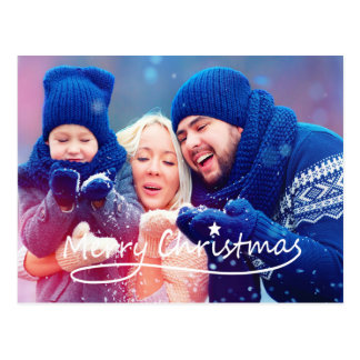 Merry Christmas Star | Holiday Photo Postcard