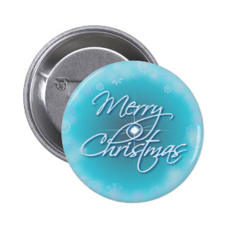 MERRY CHRISTMAS STAR & SNOWFLAKES by SHARON SHARPE 6 Cm Round Badge
