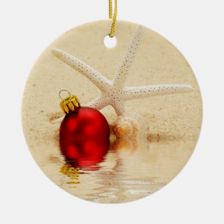 Merry Christmas Starfish Ornament