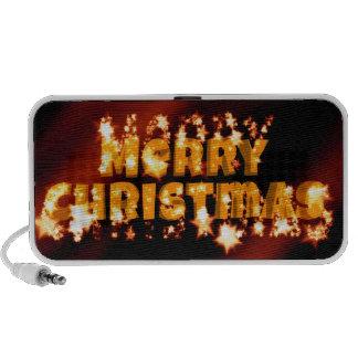 Merry Christmas starry text Travel Speaker