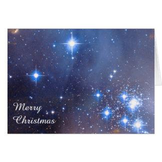 Merry Christmas Stars Greeting Card