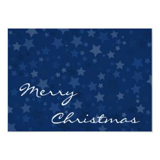Merry Christmas - Stars - Greetings Card 13 Cm X 18 Cm Invitation Card