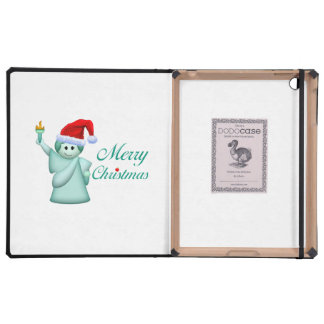 Merry Christmas Statue Of Liberty Case For iPad