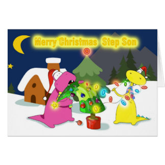 merry christmas step Son Greeting Card