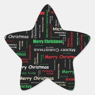 Merry Christmas! Star Sticker